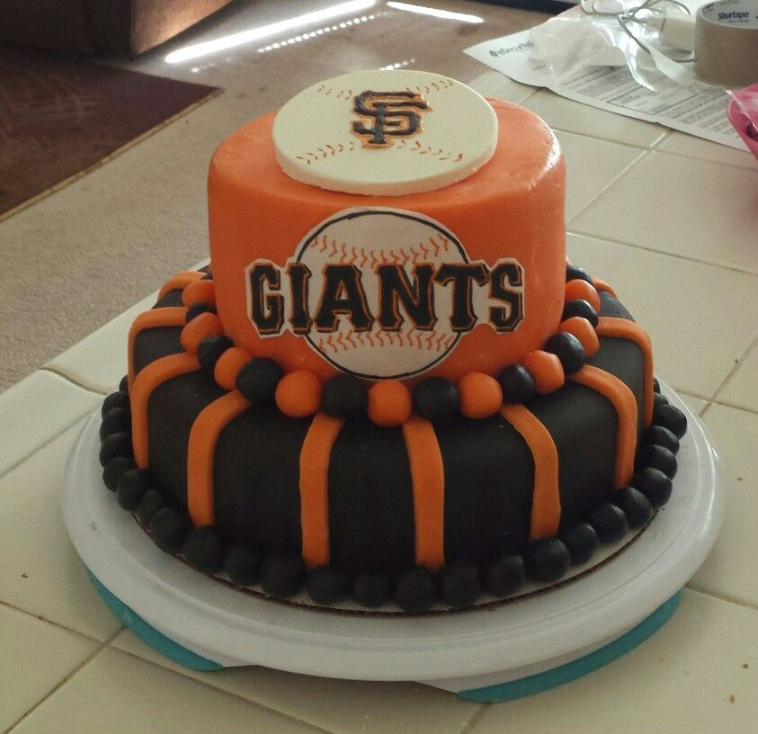San Francisco Giants Birthday Cake I Made For My Brother All Covere