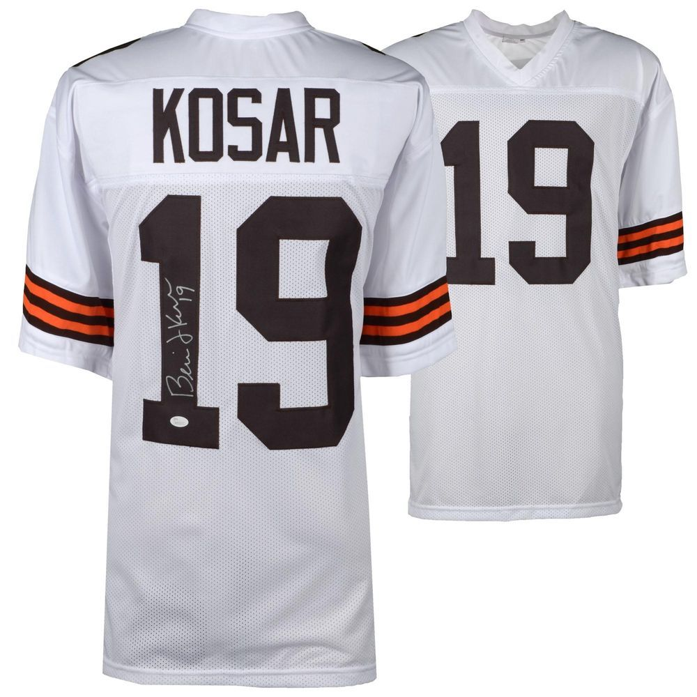 info for c3003 71f21 Bernie Kosar Cleveland Browns Autographed White Jersey JSA ...