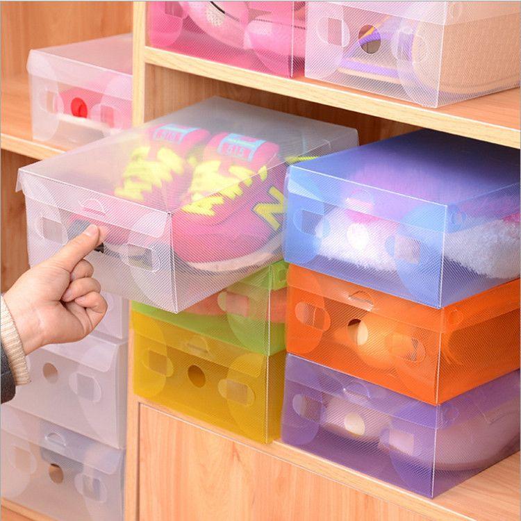 Stackable Boxes Home Decor Cool Transparent Drawer Case Plastic Shoe Boxes Storage Organizer Review