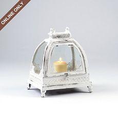 Whitewashed Metal Lantern at Kirkland's | Metal lanterns ... on Lanterns At Kirklands id=15806