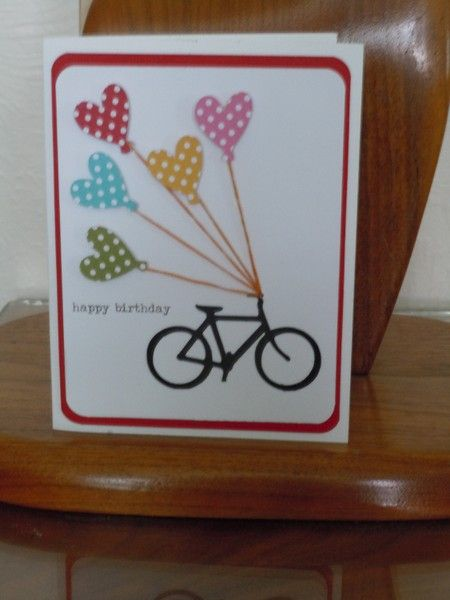 Bicycle Thank You Card Card Making Birthday Cricut Birthday Cards Homemade Birthday Cards