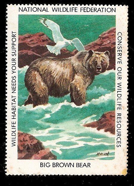 País: Estados Unidos;  Emisor: National Wildlife Federation; Año: 1981; Título: Big Brown Bear