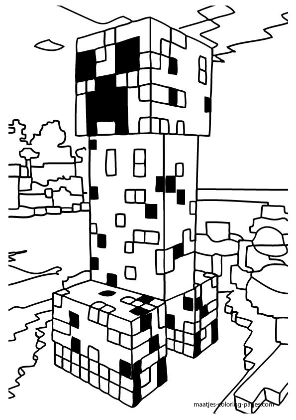 Minecraft coloring pages minecraft coloring pages food for Minecraft chicken coloring pages