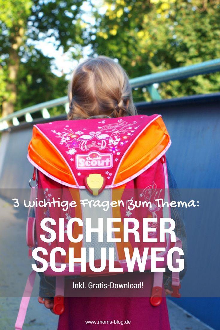 """3 wichtige Fragen zum Thema """"Sicherer Schulweg"""" inkl. gratis Druckvorlage! #grundschule http://www.moms-blog.de/sicherer-schulweg-grundschule/"""