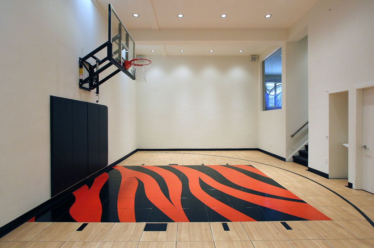 At Home With Susan Kim And Patrick Koenig Home Basketball Court Indoor Basketball Indoor Basketball Court