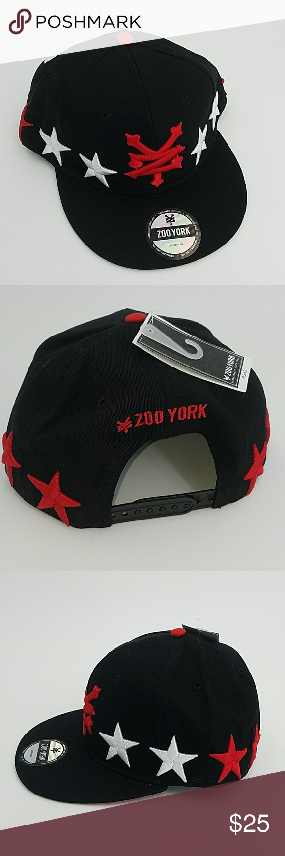 9e438194a60 Zoo York Men s Skate Snapback Adjustable Zoo York Accessories Hats