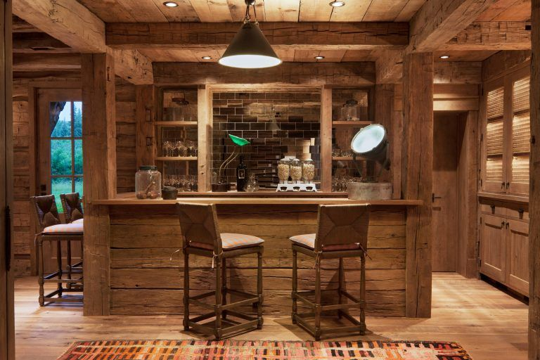 15 Distinguished Rustic Home Bar Designs For When You Really Need