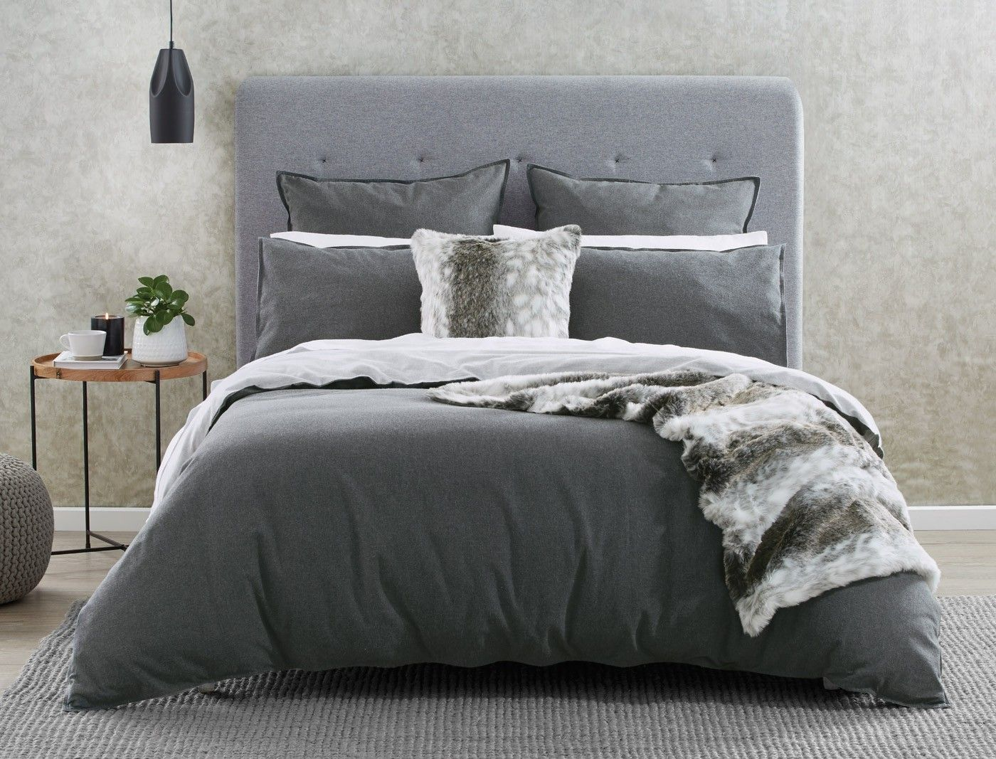 Lusso Quilt Cover Charcoal Cool Grey Quilt Cover Quilt Cover Sets Traditional Bedroom Decor
