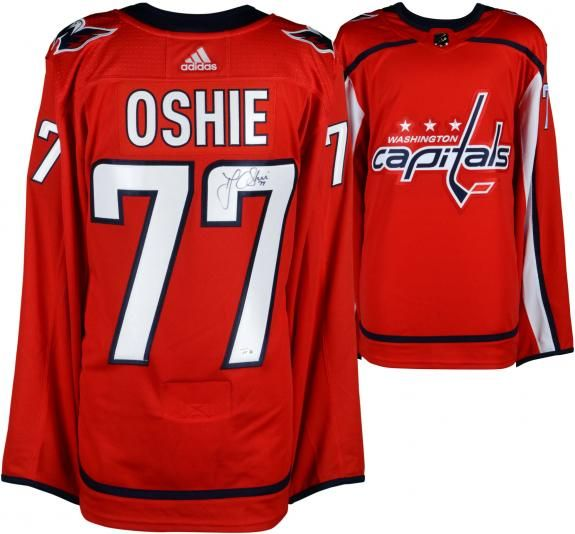 944ff06ae79 T.J. Oshie Washington Capitals Autographed Red Adidas Authentic Jersey -  Authentic Signed