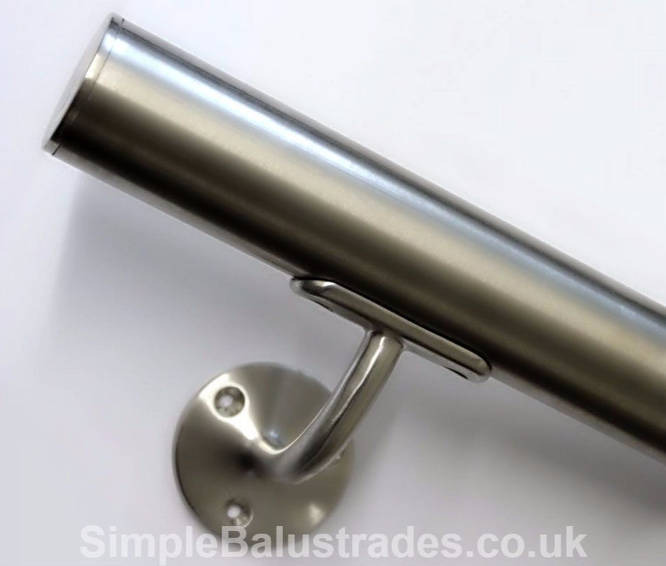 Details About Stainless Steel Stair Handrail Quality Satin | Brushed Stainless Steel Handrail | Rectangle | Glass Panel Wooden Handrail | Brushed Chrome | Matte Finish | Flat Bar Steel