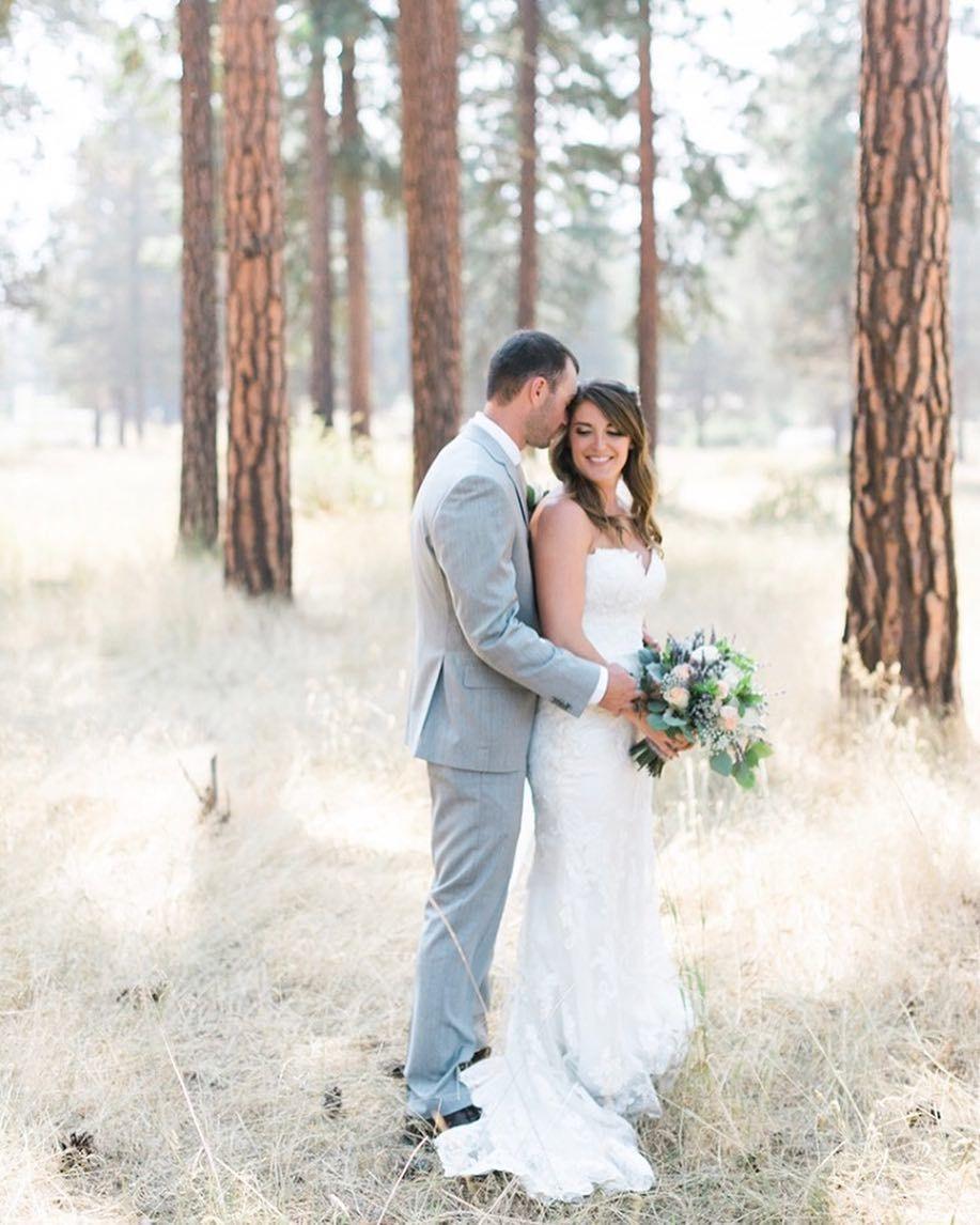 Bride And Groom Portraits At The Running Y Wedding Venue In Klamath Falls Oregon