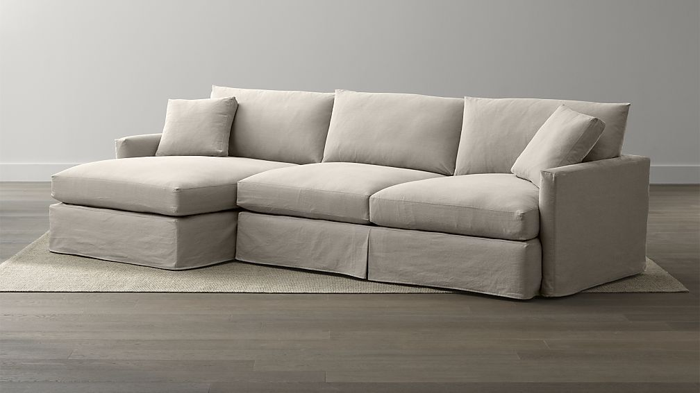 lounge slipcovered 2 piece sectional sofa crate and barrel for rh pinterest com