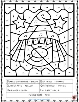Halloween Music Color By Notes And Rests Halloween Music Activities Music Coloring Halloween Music
