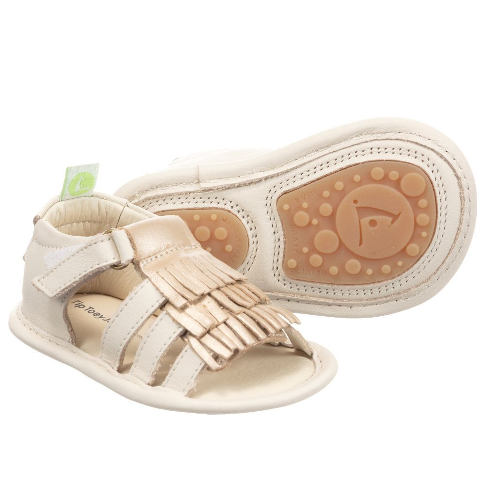 d921fa54e182 Baby and toddler girls fringed sandals by Tip Toey Joey