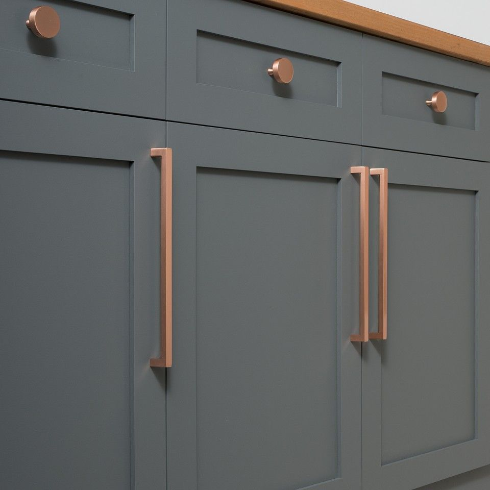 6 Drawer Handles Copper Draw Knob Door Handles Kitchen Cupboard Pull Draw Retro