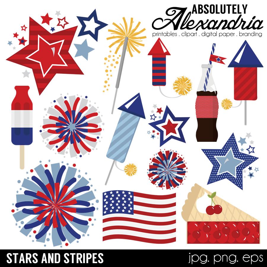 Stars Stripes Digital Clipart Graphics Clip Art Digital Clip Art Digital Paper