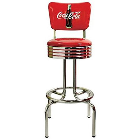 Coke Bull S Eye Stool With Back 30 Quot Coke Bull S Eye Bar