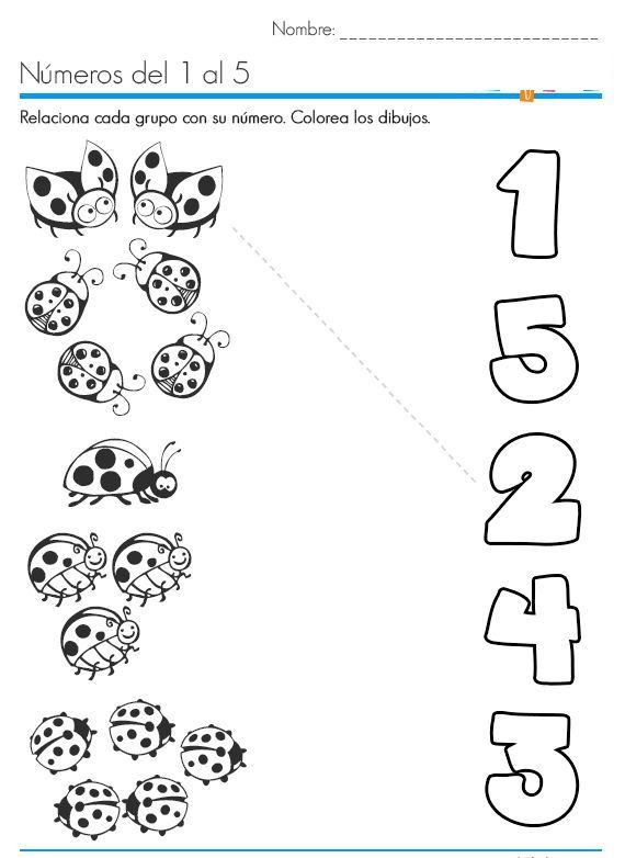 Ladybug Counting Number Worksheets Tarefas Para Educacao