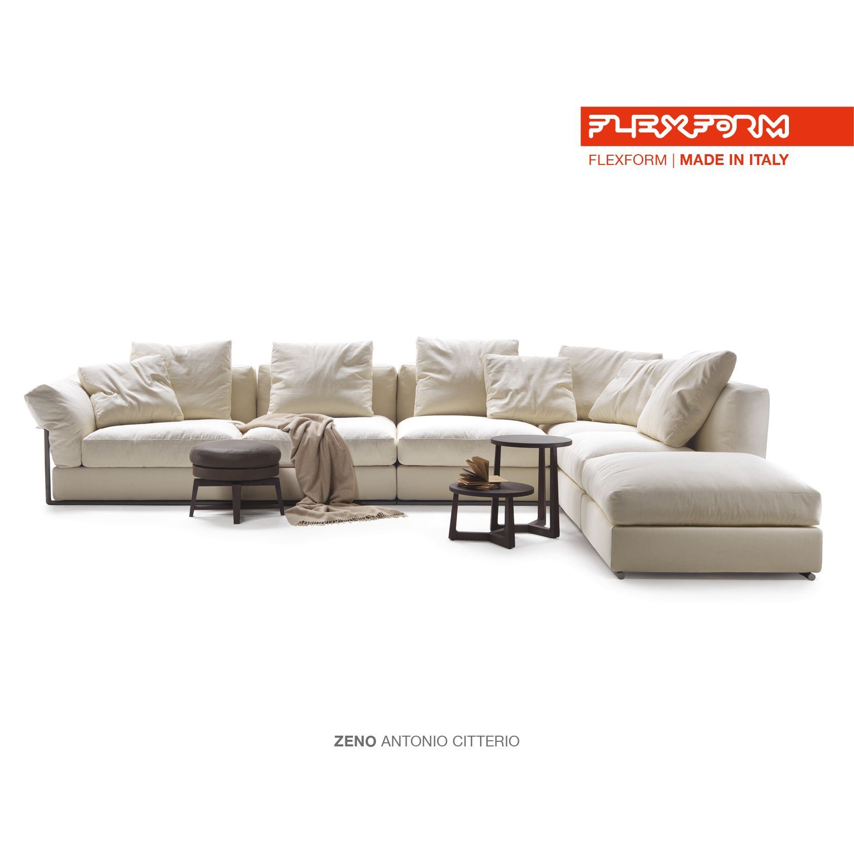 FLEXFORM ZENO sectional sofa #design Antonio Citterio | Flexform ...