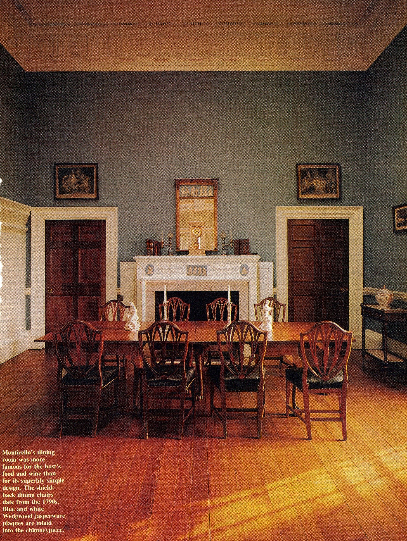 Monticello, Thomas Jefferson Dining Room. Simple, Spare