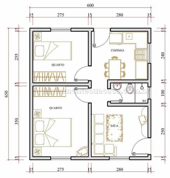 Projetos de casas pr fabricadas modelos de projetos de for Plantas de casas tipo 3
