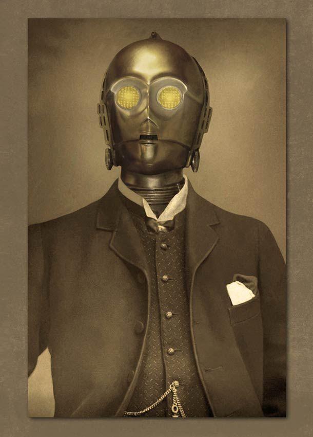 Star Wars - 19th Century by Terry Fan - C3PO