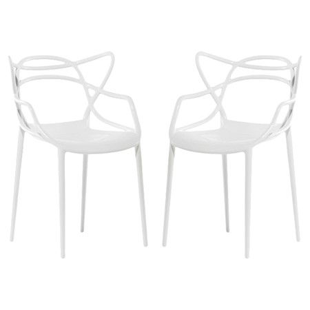 Kartell Masters Indoor/Outdoor Side Chair in White