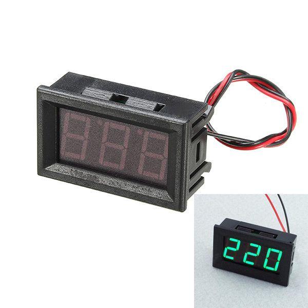 US$7.57] 3Pcs 0.56 Inch Green AC70-500V Mini Digital Voltmeter ...