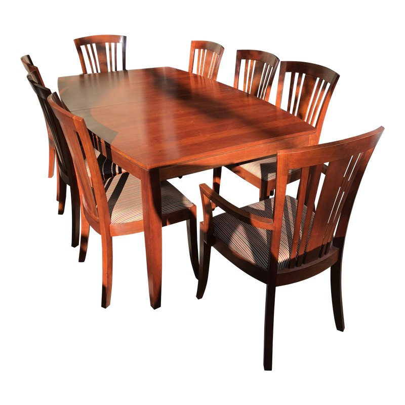 Stickley Boat Shaped Dining Table Sideboard Dining Table