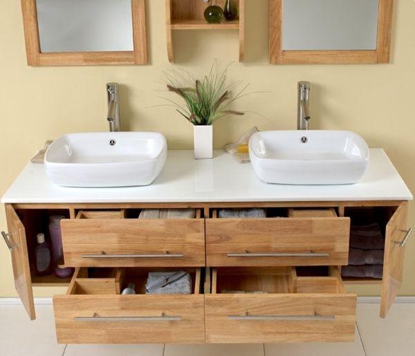 Badezimmer Spiegelschrank Aus Holz 22 Moderne Ideen Badezimmer Badezimmer Spiegelschrank Bad Doppelwaschtisch