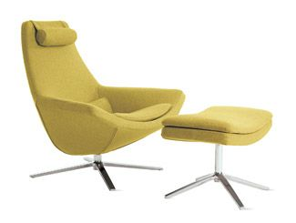 Metropolitan Chair & Ottoman by Jeffrey Bernett: Also available in charcoal and warm grey. http://tinyurl.com/18r  #Chair #dwr #Jeffrey_Bernett