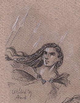 Fingon sketch Utulie'n Aure! by Jenny Dolfen