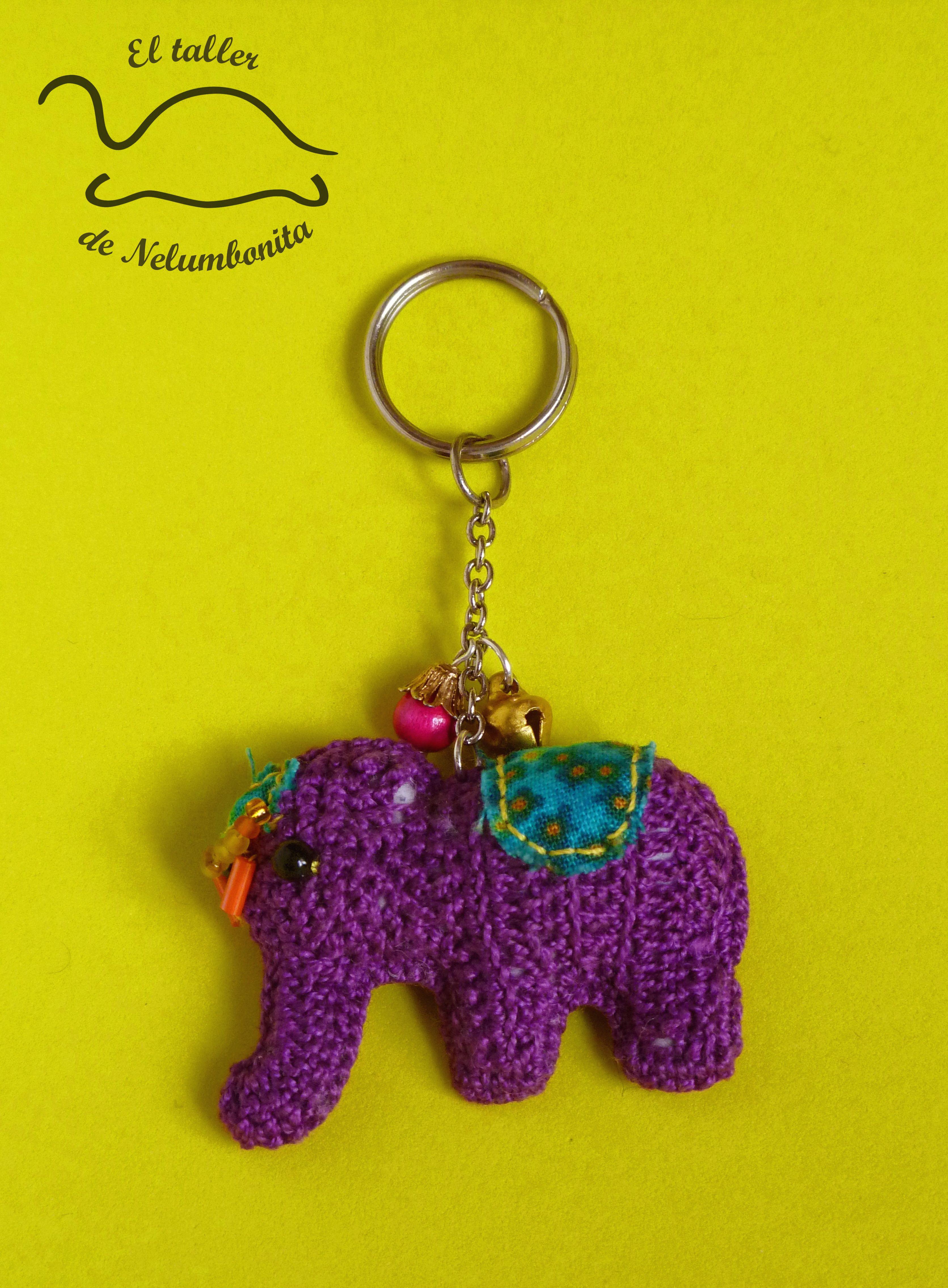 Llavero de elefante | Patrón Gratis | Pinterest | Llaveros ...