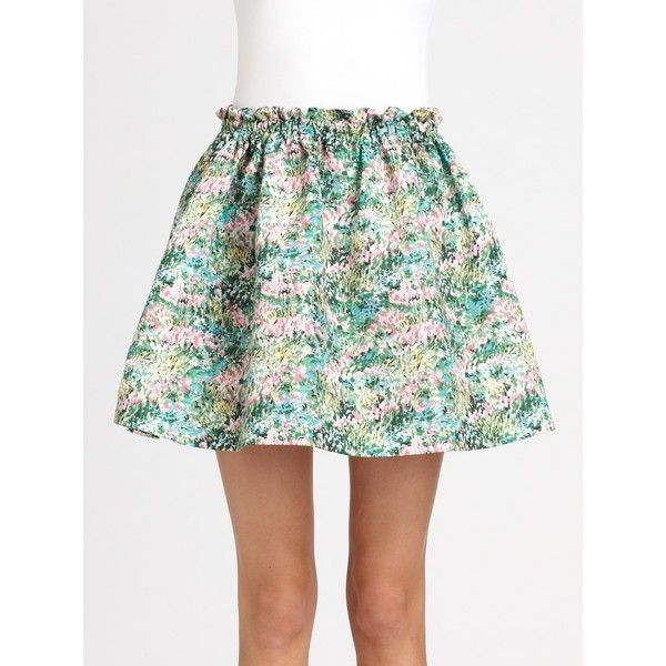 RED Valentino Meadow Print Skirt ($450) ❤ liked on Polyvore
