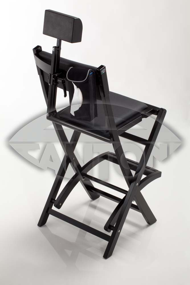 set black wooden make up chair s104 headrest makeup diretor