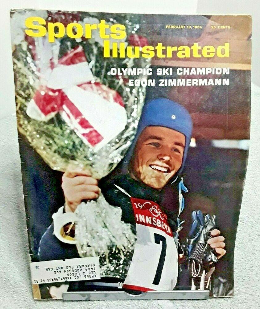 Sports Illustrated February 1964 Egon Zimmermann Olympics