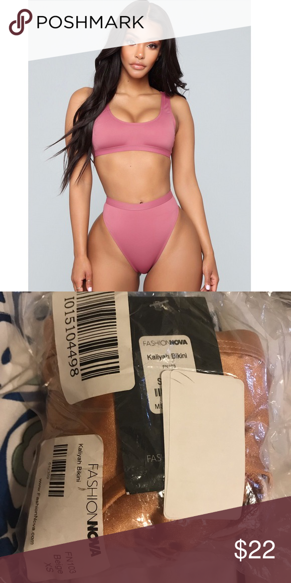b16e6eb3d9 Fashion nova bikini BEIGE Fashion nova Kaliyah bikini set, Size XS new with  tags color: beige Fashion Nova Swim Bikinis