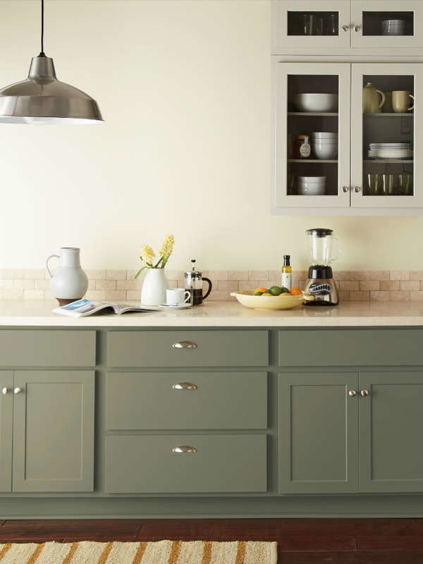 Fresh Kitchen Cabinet Colors Ecologica From Behr Kitchen Cabinet Colors Green Kitchen Cabinets Painted Kitchen Cabinets Colors
