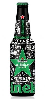 Heineken, which turns 140 this year, collaborated with the Parisian record label Ed Banger to produce a new design of the brand's new black-and-green anniversary bottle. The design of the new limited edition pays tribute to Heineken's creativity and long-term relationship with the world of music.