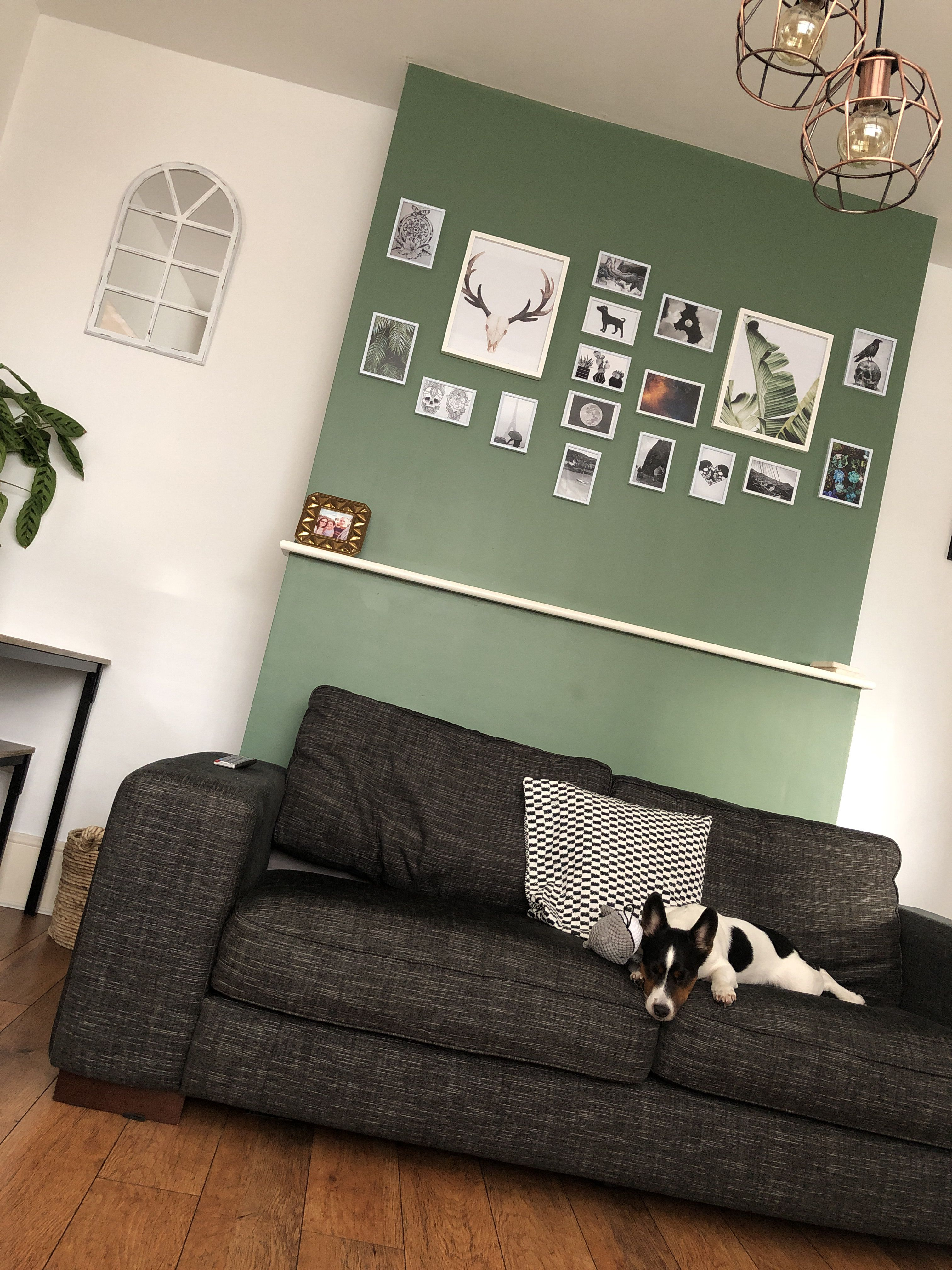 Awesome White Walls With Green Accent Chimney Breast Colours From Gmtry Best Dining Table And Chair Ideas Images Gmtryco