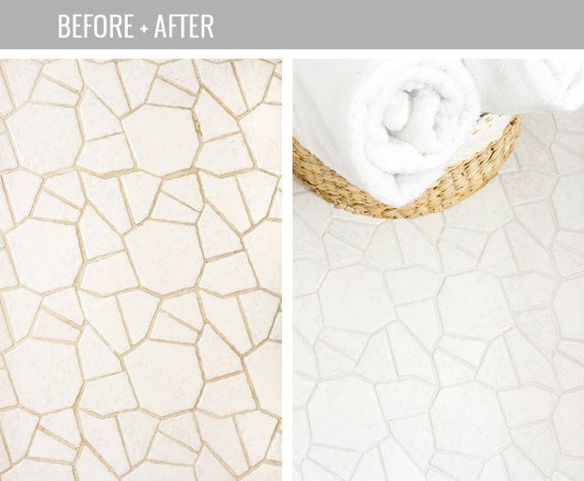Make your dingy grout lines look bright white again.