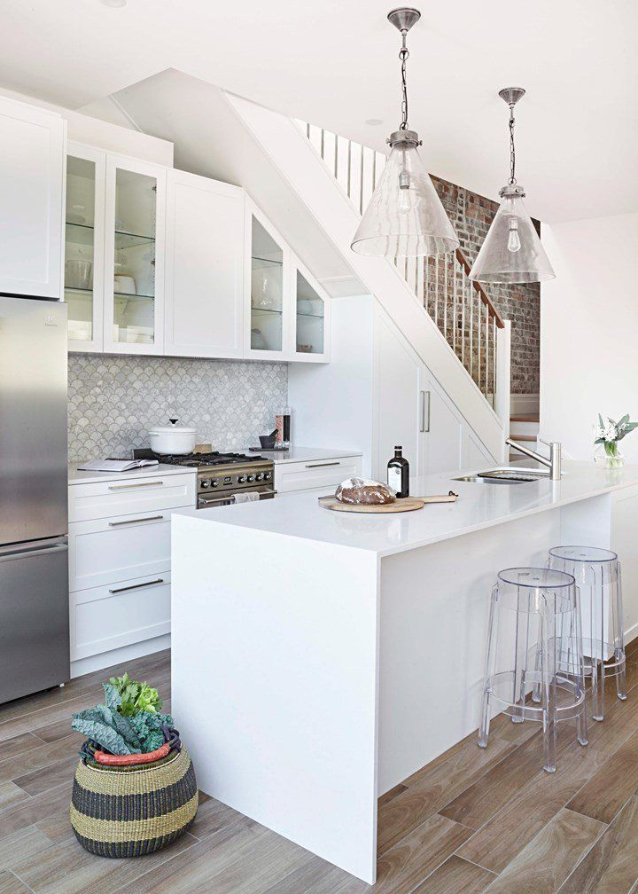 Petite Perfection: A white kitchen beautifully built in ...