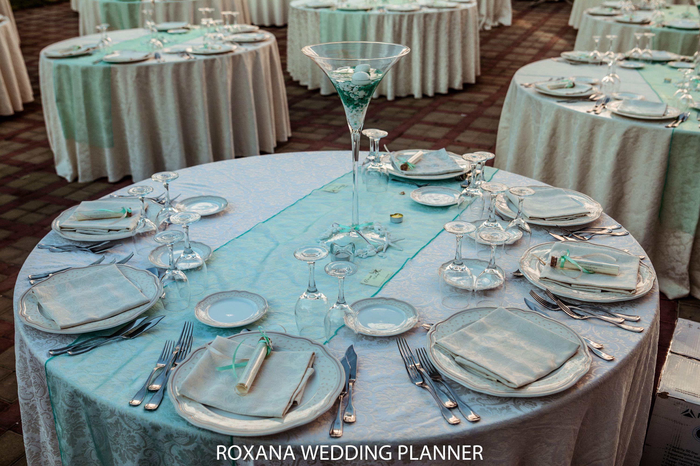 Centro Tavola Matrimonio Tema Mare Allestimenti Tavola Color Tiffany Wedding Centerpiece Sea Theme Tavolo Matrimonio Centri Tavola Matrimonio