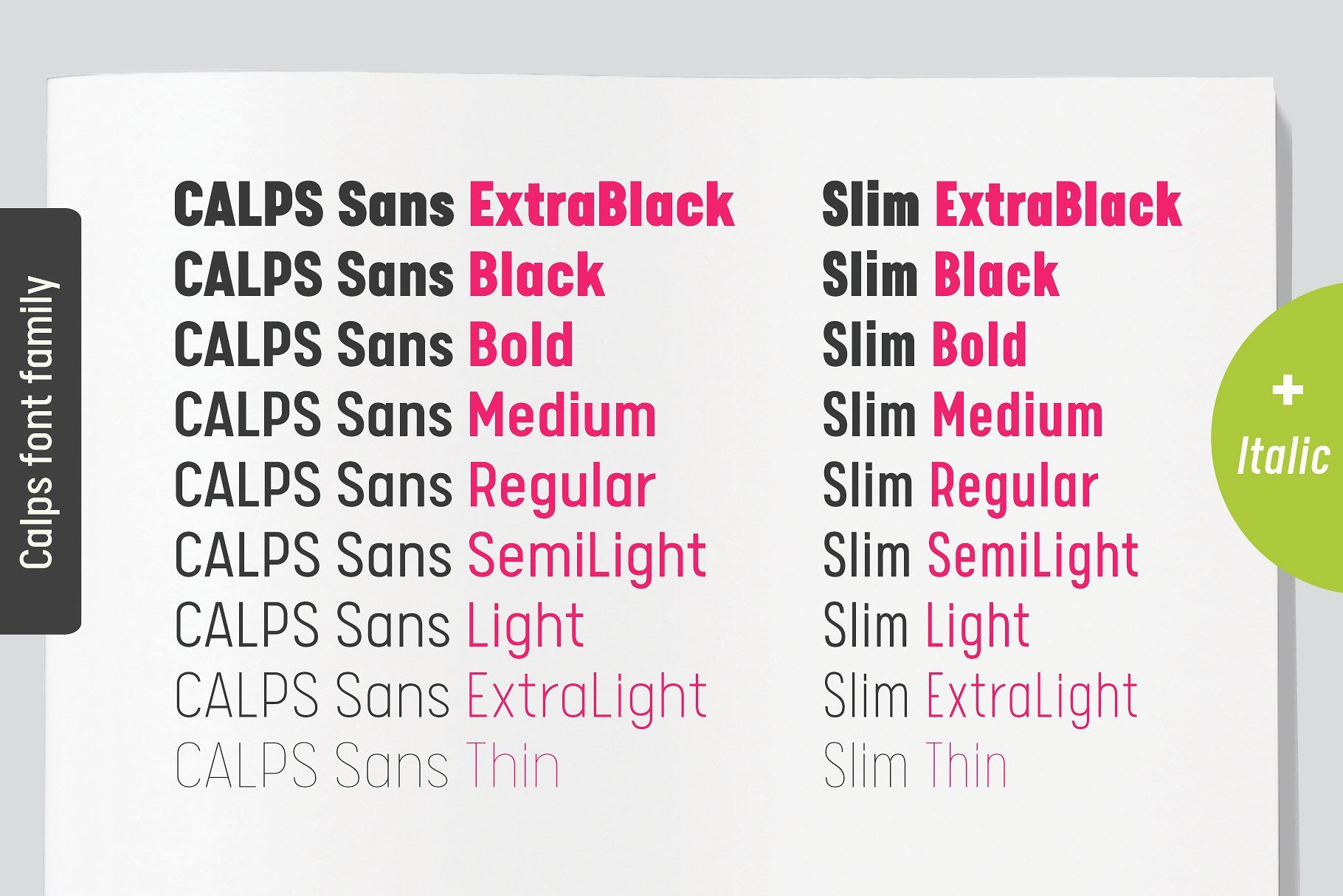 Calps Sans Font San Typeface Popular Sans Serif Fonts