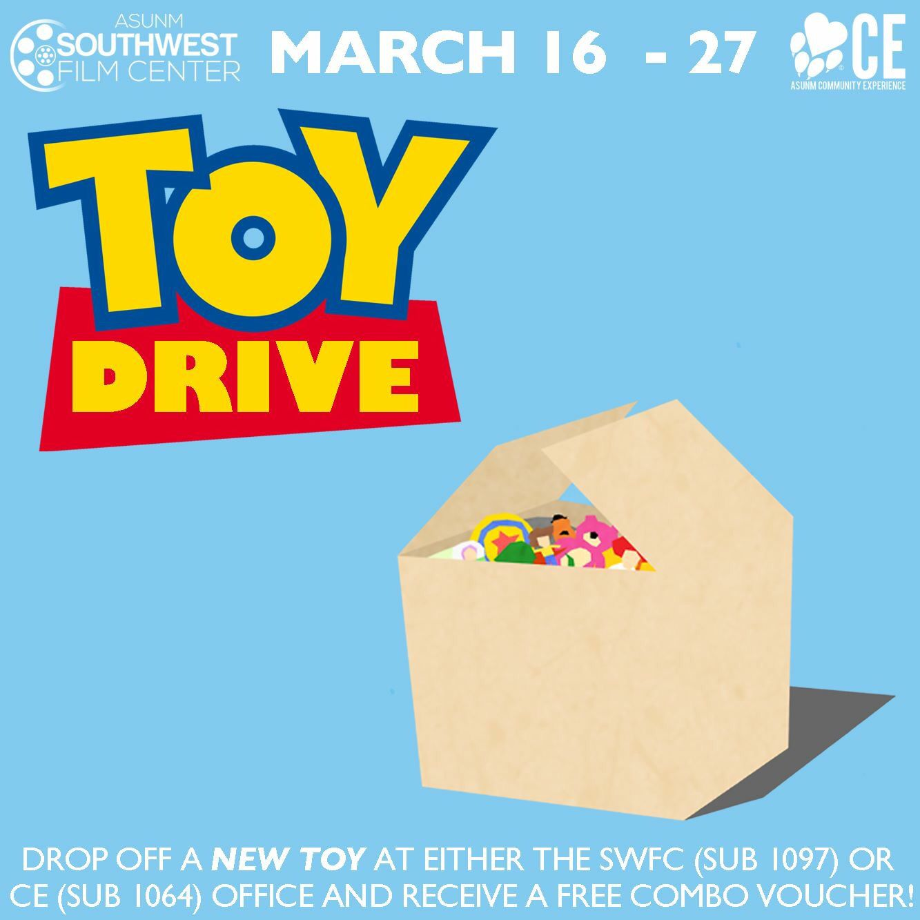 UNM toy drive Toy drive, Drive poster, Holiday toys