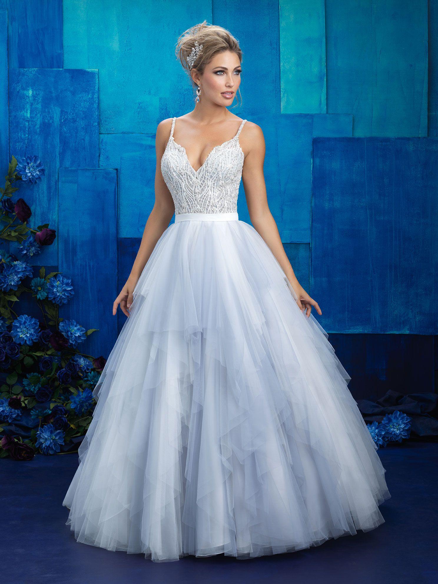 Allure 9425 Bridal Dresses Blue Wedding Dresses Allure Bridal