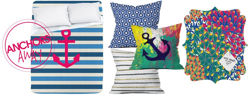 Anchors Away | Dorm Style Trend Report | DENY Designs Home Accessories includes Social Proper's Glitter Black!