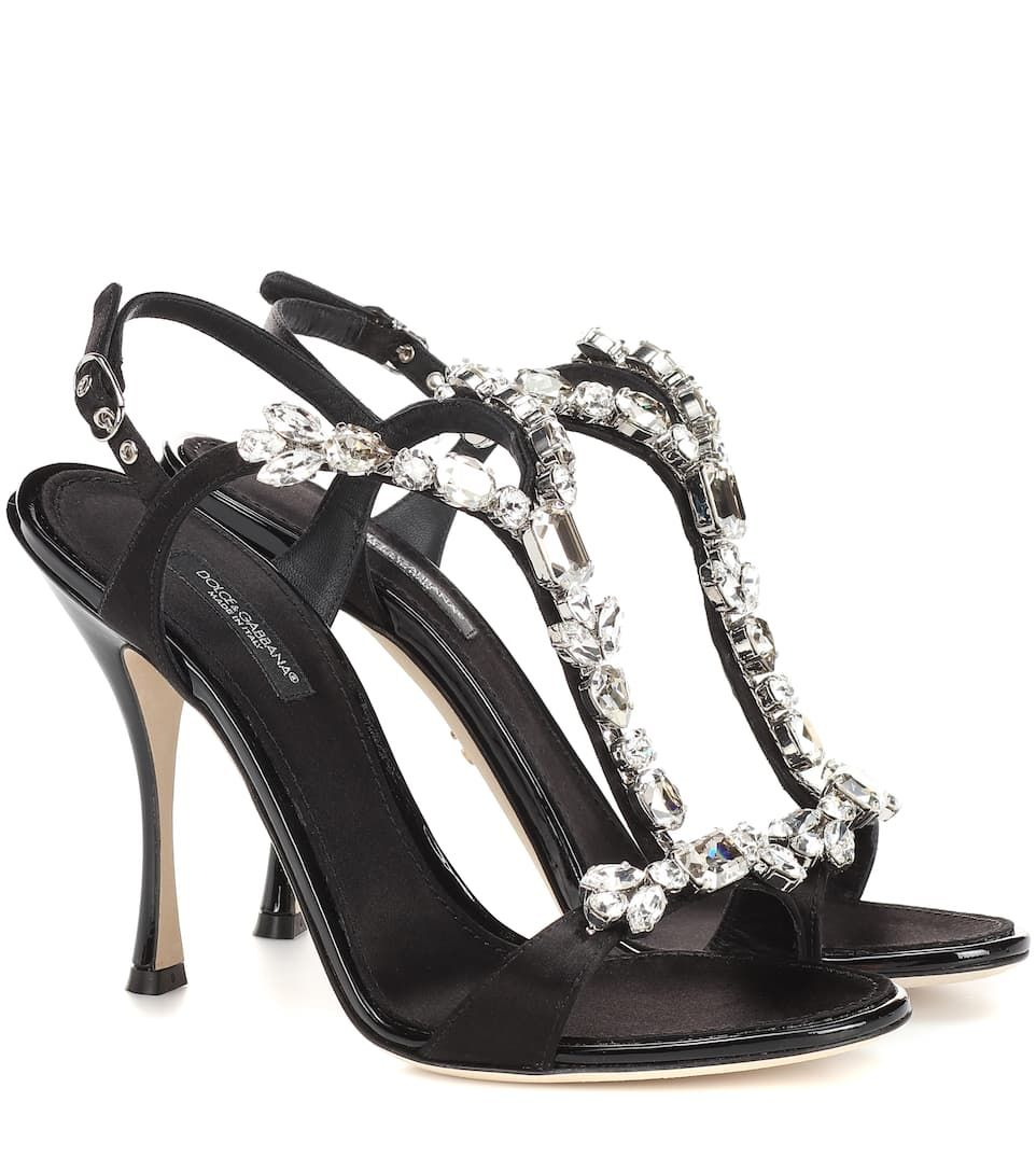 920cca479b379 Dolce   Gabbana - Crystal-embellished satin sandals
