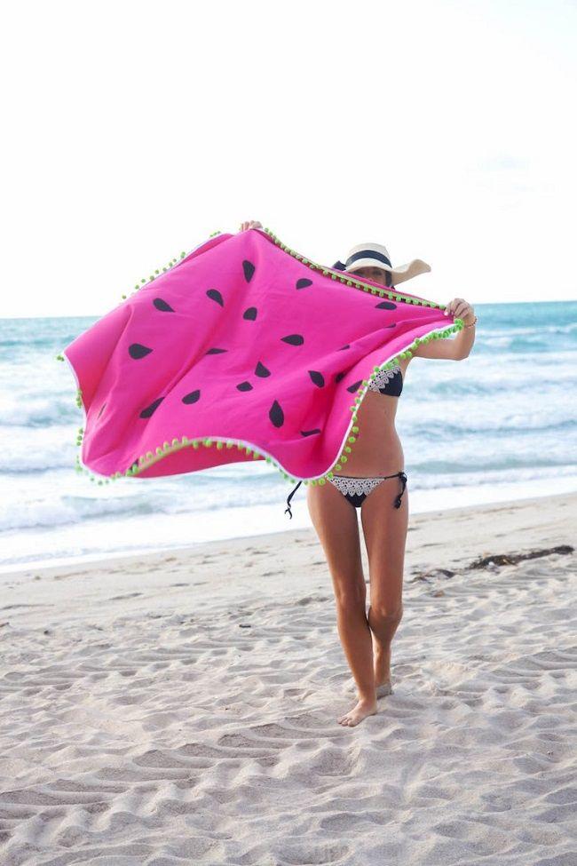 Tutoriels Serviette de plage DIY ronde pastèque tissu coton épais ...
