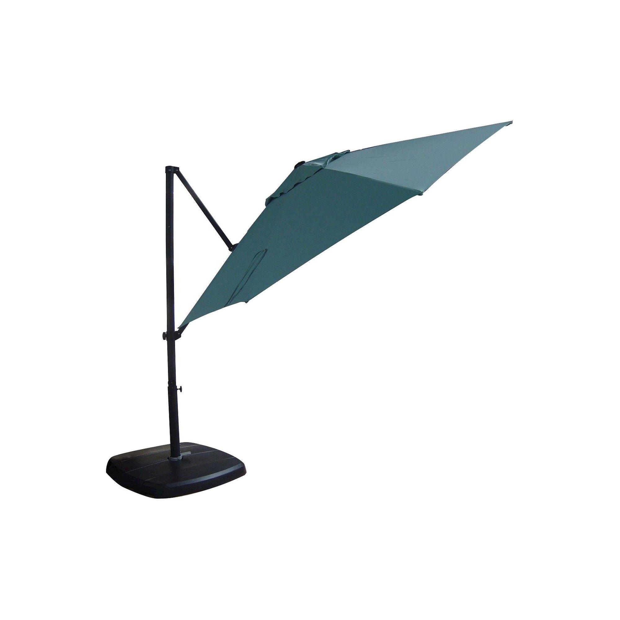11 Aluminum Push Button Tilt Patio fset Umbrella with Base